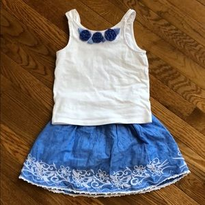 Janie and Jack Top with Trish Scully Skirt